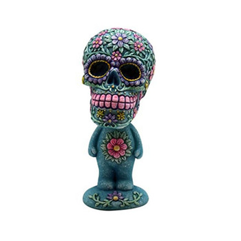 Cute Resin Skull Bobble Heads Stand Figurine