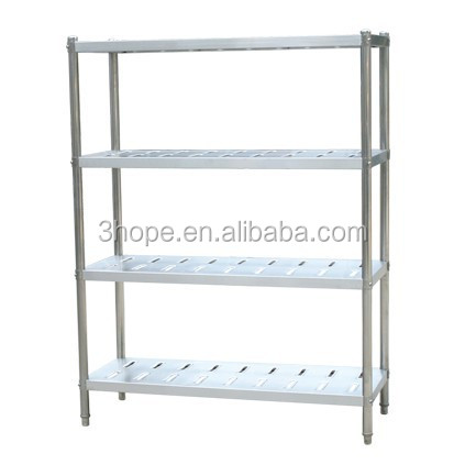 1.8M Cold Room 4 Shelf 304 Stainless Steel Storage Rack
