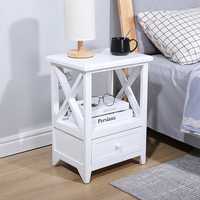 Bedside Tables Cabinet 1 Drawers Nightstand Bed Side Table