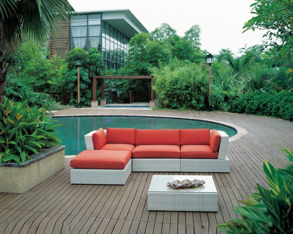 Jardín muebles otomano outdoor rattan sofá-Sofás de Caña / Mimbre ...