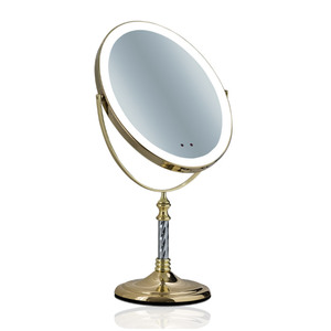 New arrival Oval shape Gold Metal framed mirrors jewel mirror