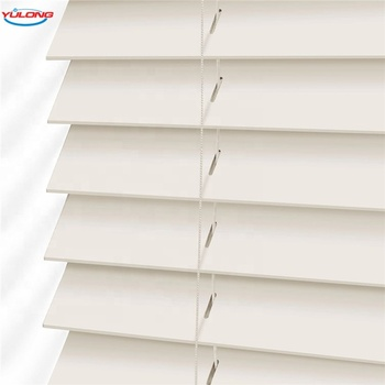 YL High Quality Free Sample PVC Venetian Blinds / pvc wooden blinds Curtains