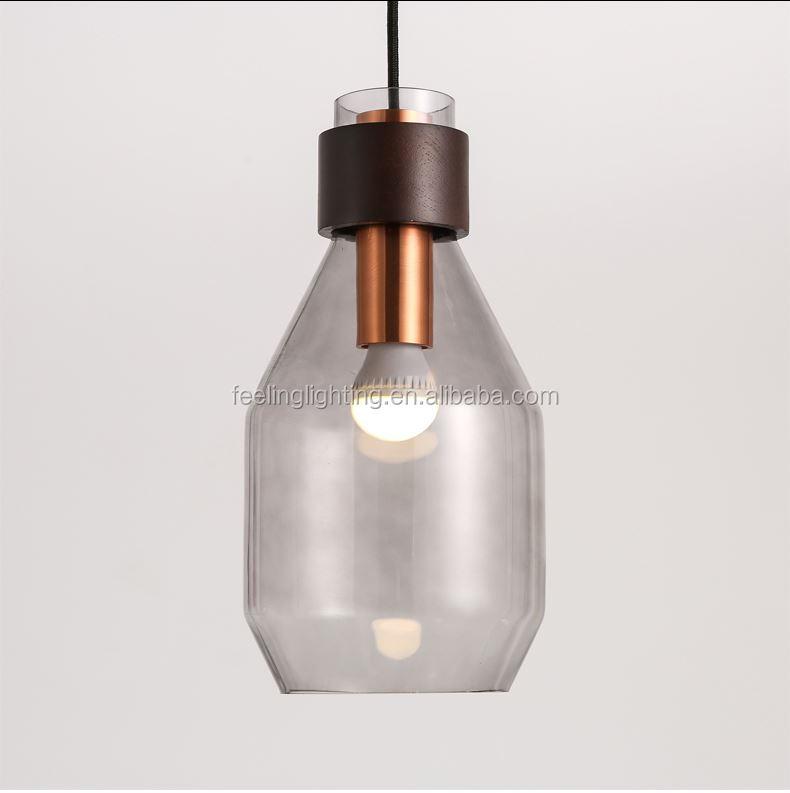 Venta al por mayor lámpara de vidrio moderno claro compre online ...