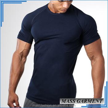 China Import Plain T Shirts 95 Cotton 5 Spandex Mens Gym Sport Wear T Shirts 2f77742a214