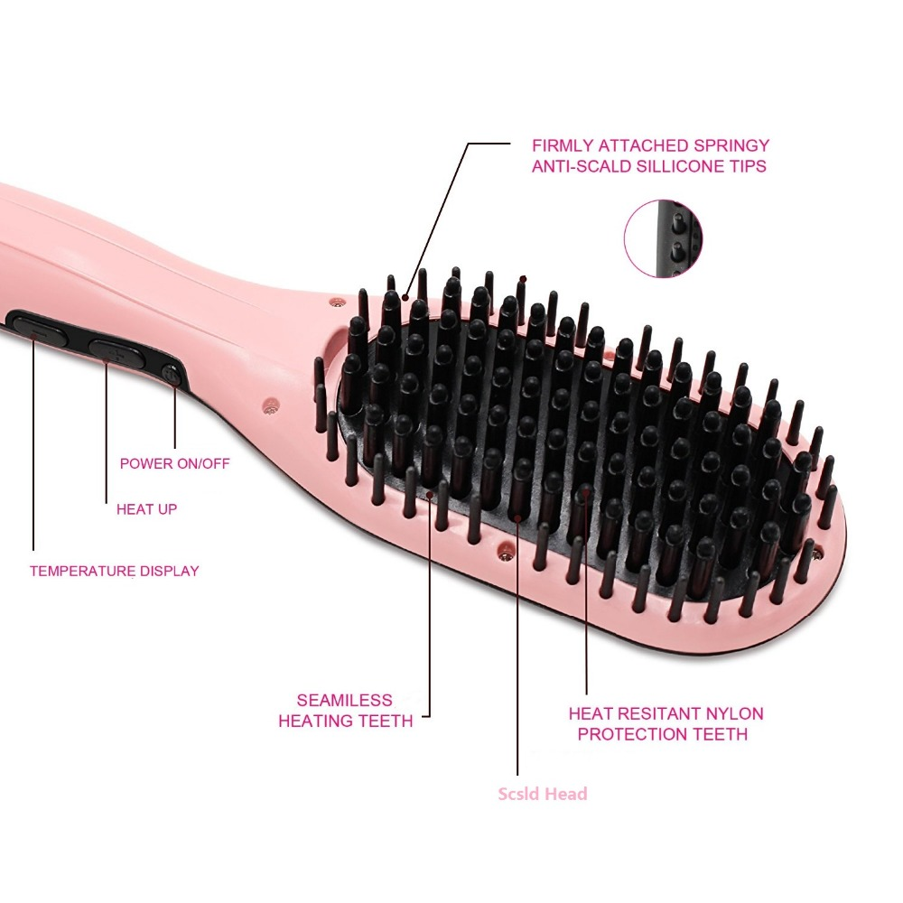 MCH heater ceramic coating straightening brush brands of flat irons