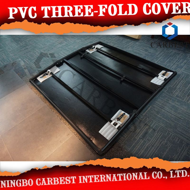 Best Quality PVC Three Fold Bed Cover For Toyota Hilux Revo 2015