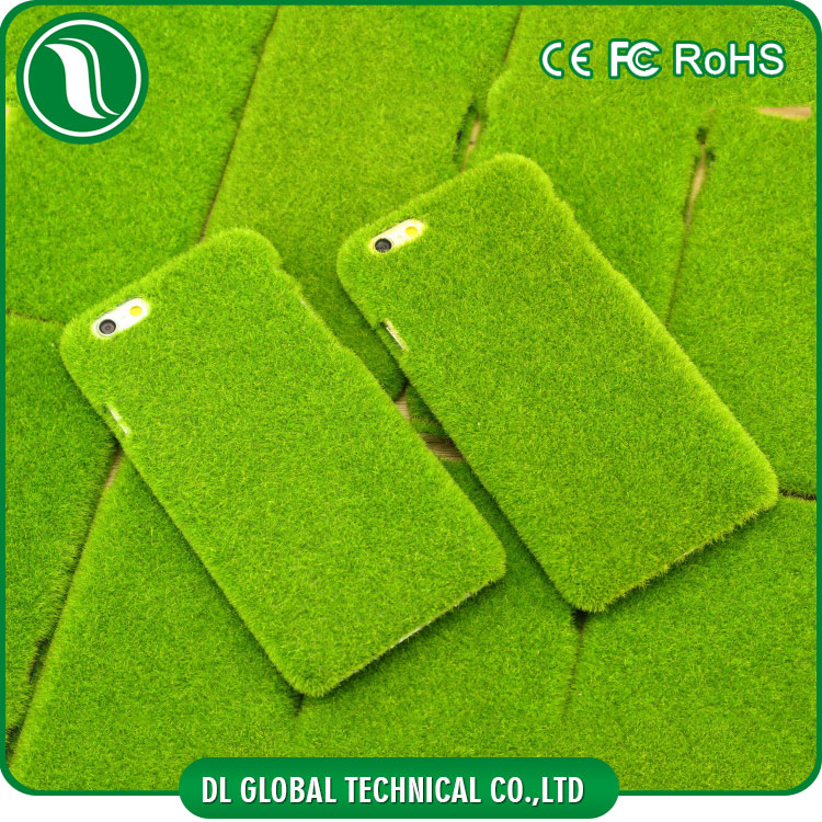 New Creative Grass phone case Plastic PC Case for iphone 6 pure color green phone case DLPC240
