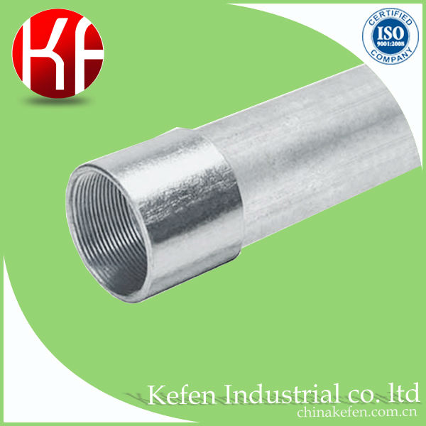 50mm mild steel round pipes for electrical cable conduit