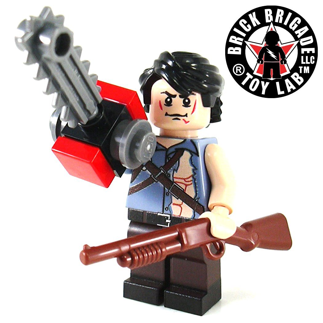 Custom LEGO Minifig Inspired by the Movie Army of Darkness Zombie Fighter Ash