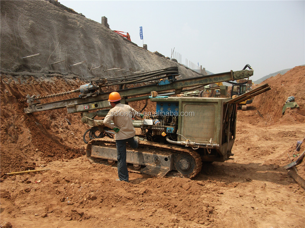 Heavy Duty Hydraulic dth Blasting Hole Drilling Rig G150YF For Sale