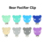 Wood and Silicone Teether Clip Star Pacifier Clip soother clip