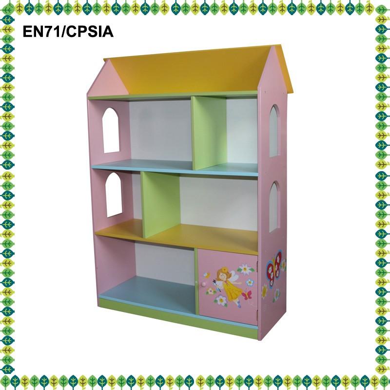 houten meubels poppenhuis met boekenkast voor kids boekenkast