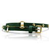 gold pin buckle fashion lady beaded pu belt for dress design