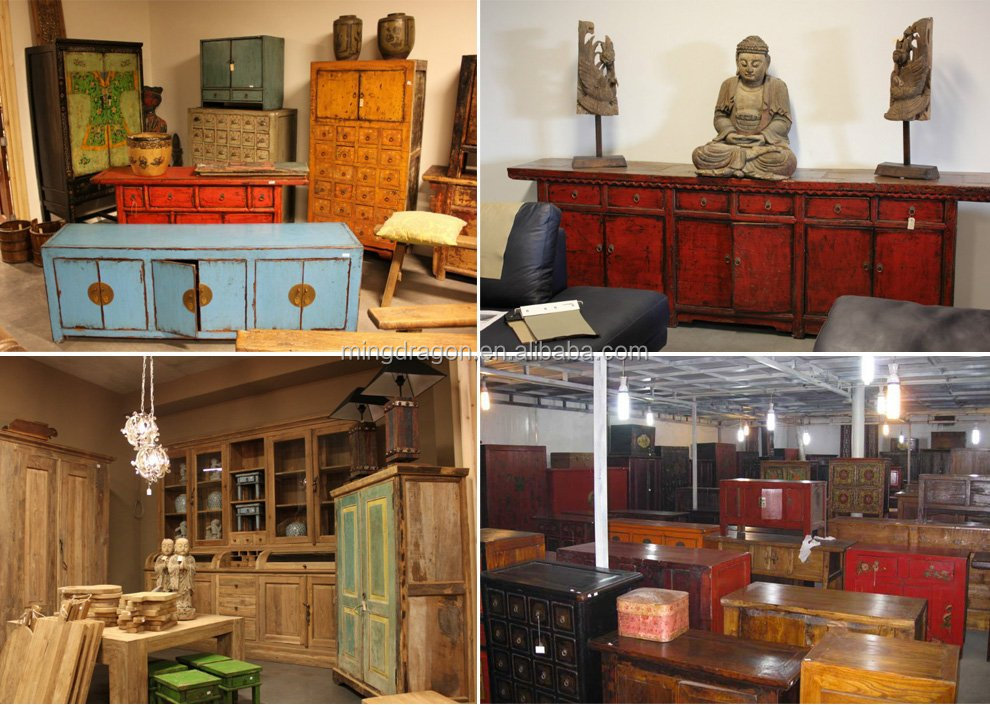 Chinese antique furniture- many drawers distressed medicine cabinet - Chinese Antique Furniture- Many Drawers Distressed Medicine Cabinet