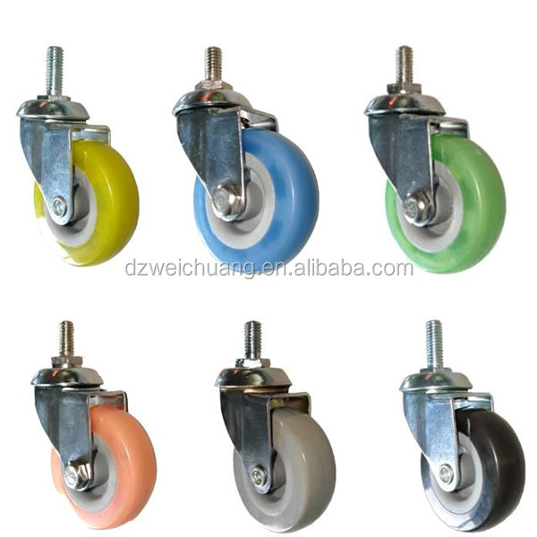custom solid plastic nylon caster wheels