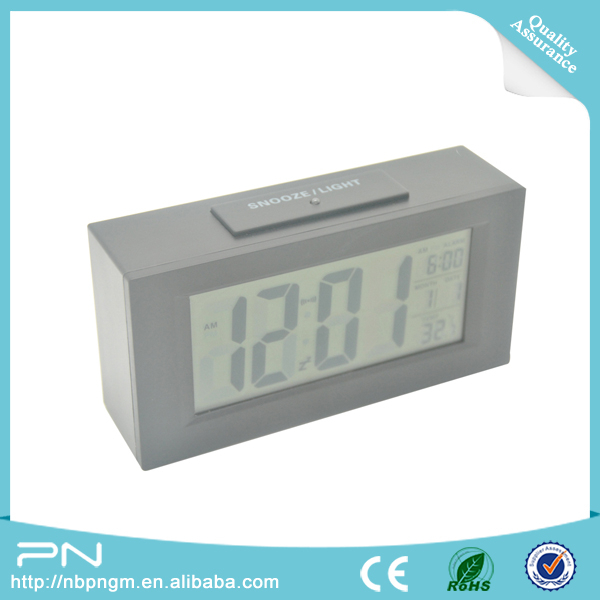 PN-1083 Digital Snooze Electronic Alarm Clock, LCD Display Clock, Multi-function Digital Clock