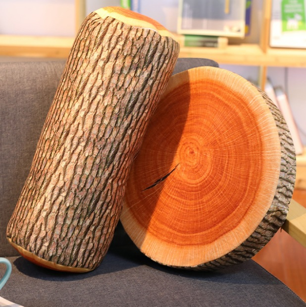 3D Digital Print Tree Wood Slice Comfort Foam Throw Pillow Seat Pad Home Decor Idea