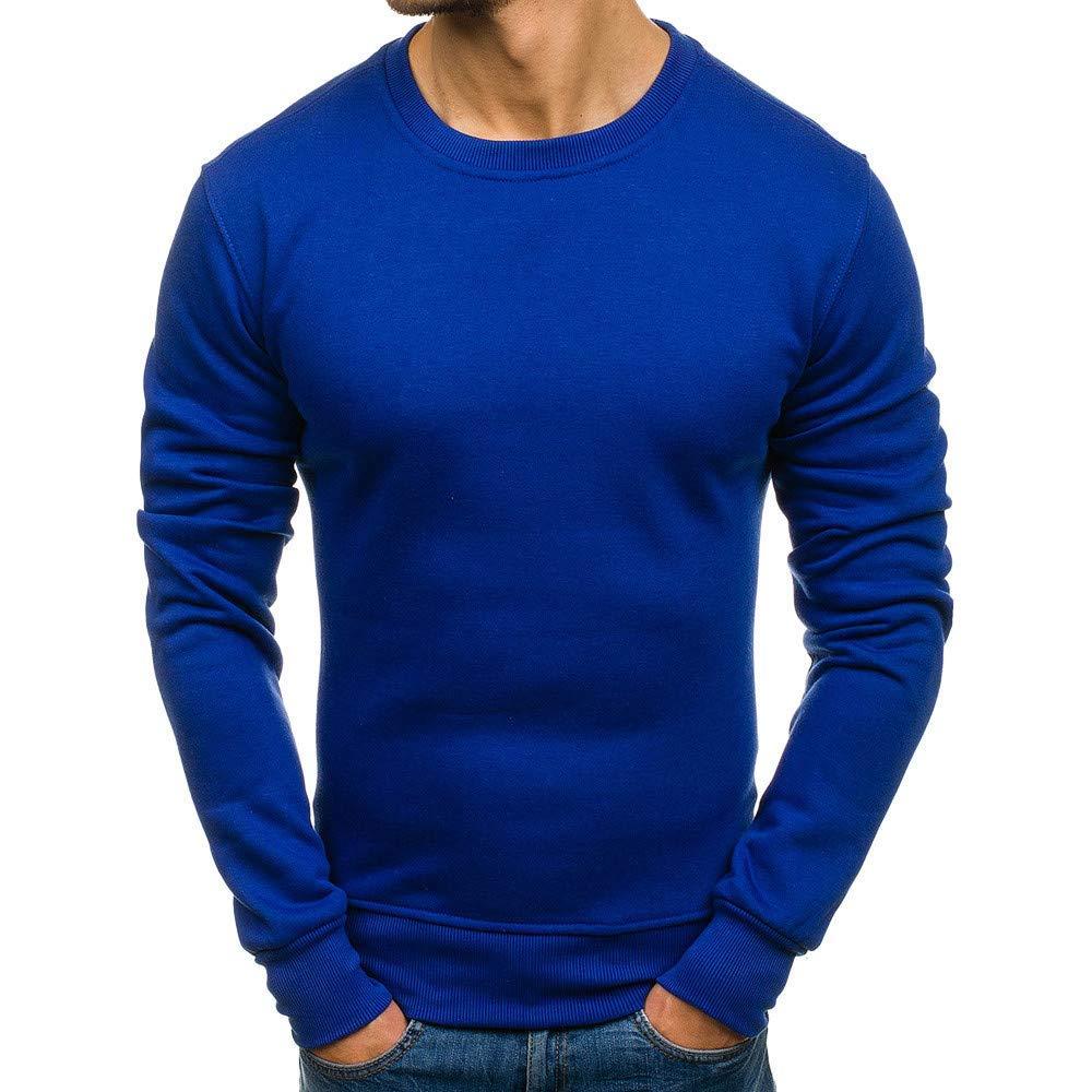 Photno Mens Sweatshirts,2018 Mens Crew Neck Sweatshirts Lightweight Plain Pullover Tops Outwear Jackets