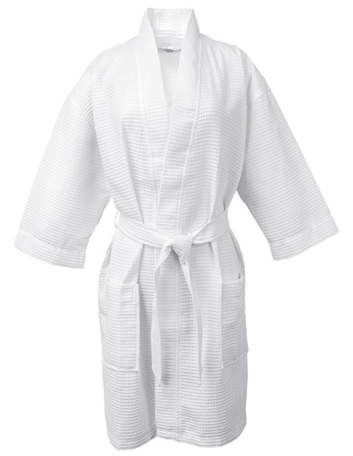 Get Quotations · LUXEHOME 100% Cotton Waffle Bathrobe Luxury Weave Waffle  Soft Spa Robes For Women and Men 16cb7ff06