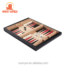 Pieghevole in pelle backgammon <span class=keywords><strong>scacchi</strong></span> 3 in 1 gioco set