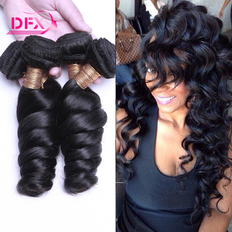 Mink Brazilian Hair Loose Curls Weave 3 Bundles Brazilian