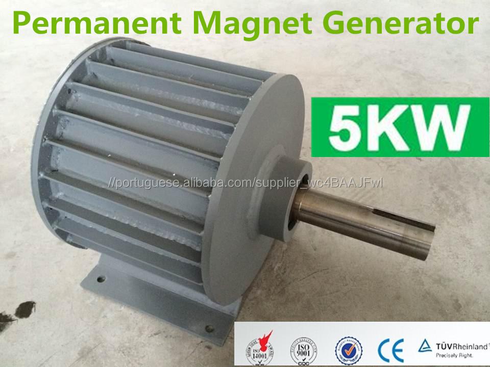 f10956e804e 5KW gerador de imã permanente sem escova magnético para a turbina de vento  também chamado de