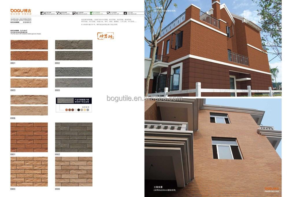 Cl nquer telha tijolos de arenito revestimento da parede for Exterior relativo