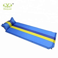 Self Inflatable Mattress Camping Mat With Pillow Air Self-Inflatable Sleeping Pad Foam Camp Folding Bed Beach Self-Inflating Mat