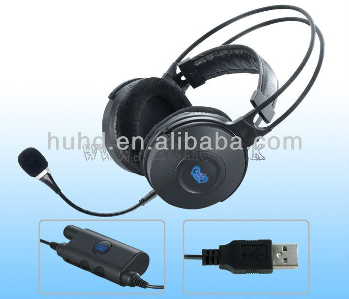 USB 2.0 sound card for music,headphone jack,5.1 channel surround gaming headset