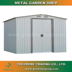 Metal garden shed ST-AP-2 10'X8'ft outdoor shed for garden tools storage zinc steel frame gable roof portable building shed kits