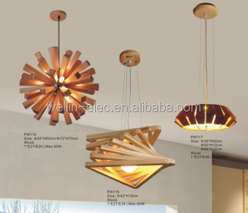 Modern Wooden Pendant Lighting Chandelier Hanging Lamp Manufacturer