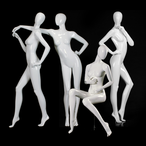 Clear plastic female mannequins supplier