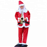 Life size Sax musical Santa Clause outdoor Christmas Decoration resin sculpture