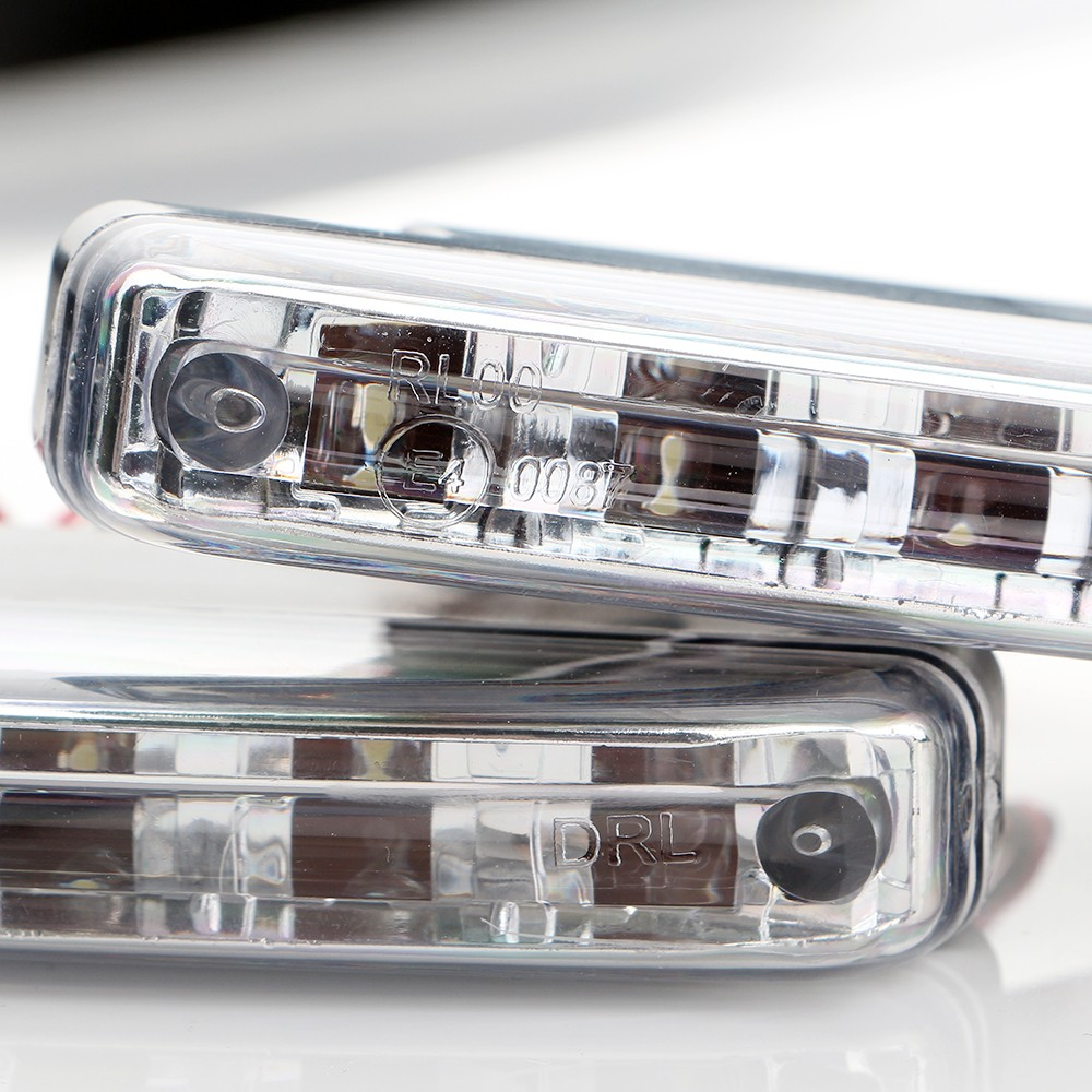Car Light 8 Led Drl Outside Wiring Auto Source Fog Driving Daytime Running Lights Daylight