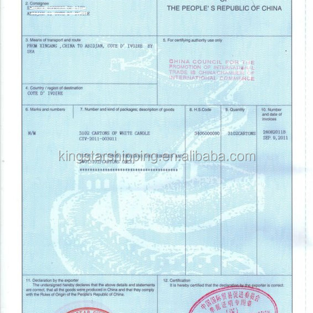 Buy cheap china export customs clearance document products find hong kong hk re export co certificate of origin re export yadclub Choice Image