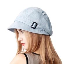 c1857244 FS Fashion Cotton Sun Hat For Women Summer Outdoor Foldable Beach Hats Blue  Pink Dark Gray
