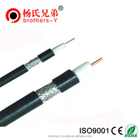 RG6 bare copper ground wire dual shielded coaxial outside plant cable