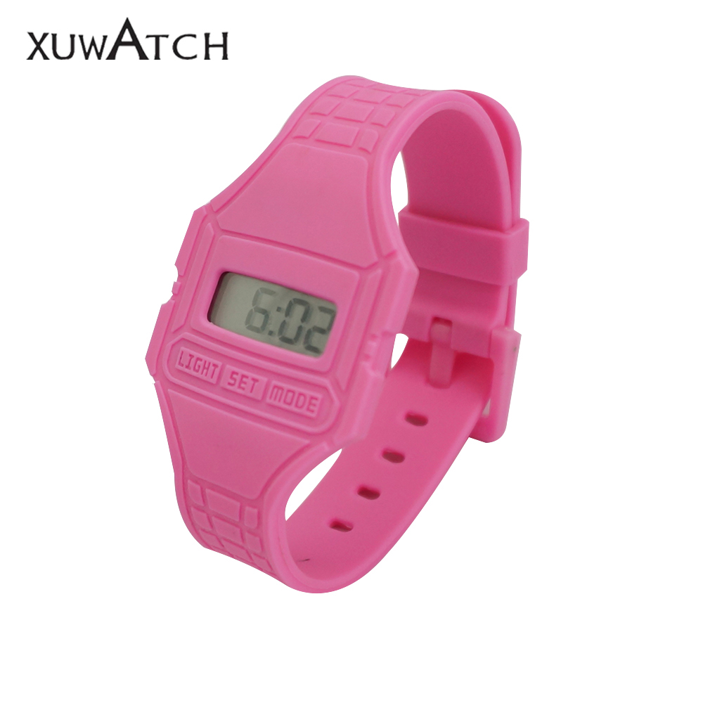 Ultra Thin Electronic Silicone Watch with Jelly Color