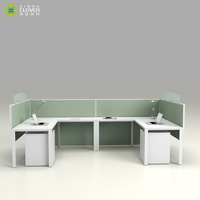 Space Saving TT series high quality office furniture 2 person computer desk office cubical workstation for small office