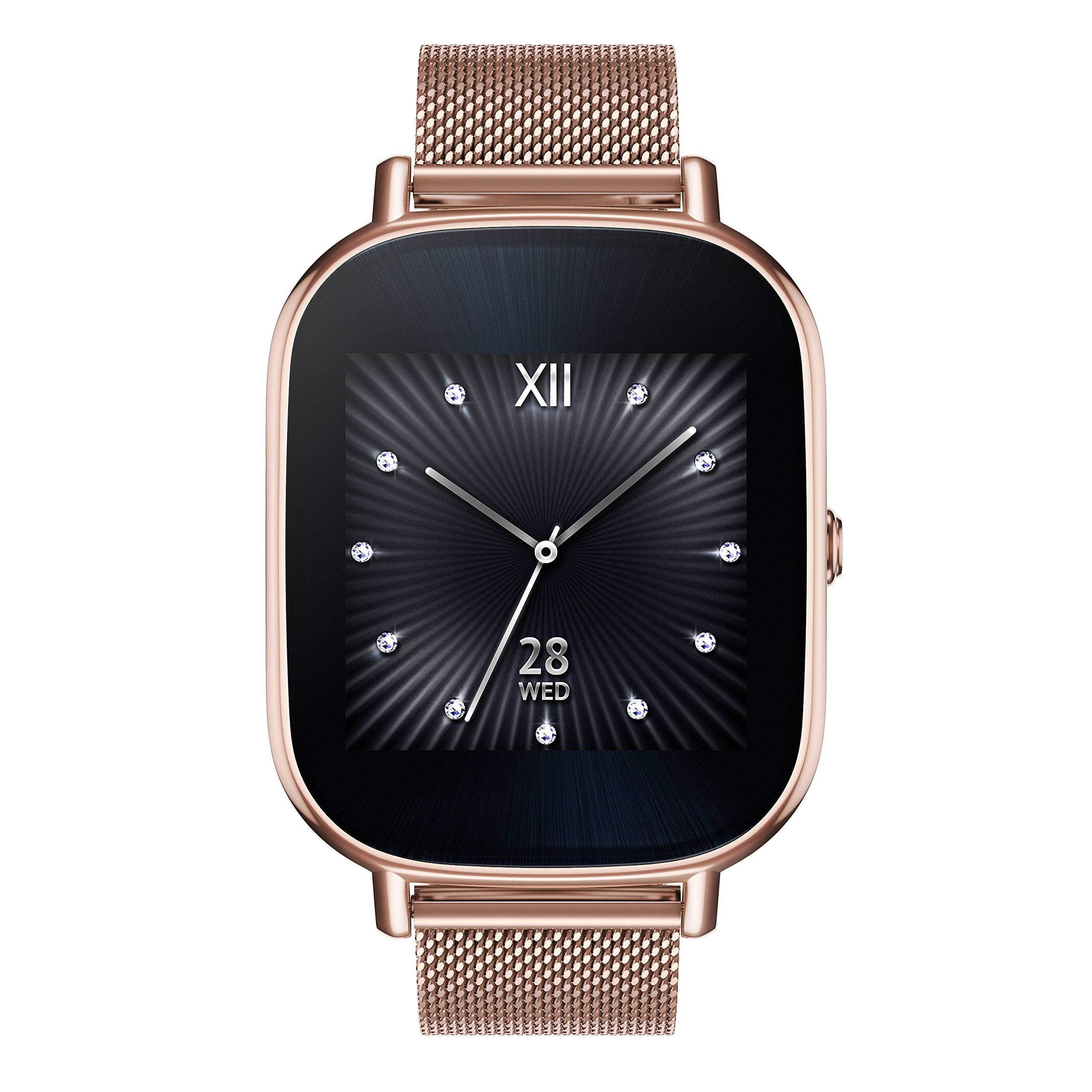 35369ae3c Get Quotations · ASUS ZenWatch 2 Rose Gold 37mm Smart Watch with Quick  Charge Battery, 4GB Storage,