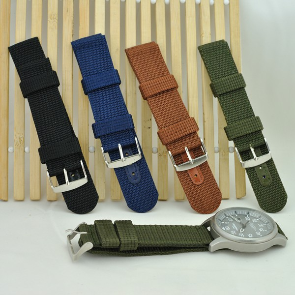 e6ded51388 Nato Watchband Width Fabric Nylon Canvas Wrist Watch Band Strap 18mm 20mm  22mm 24mm Stainless Steel