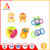 Food grade silicone infant new born baby rattle teething teether toy