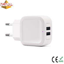 CE ROHS 5V 3.4A Dual Universal Super Slim USB Wall Charger