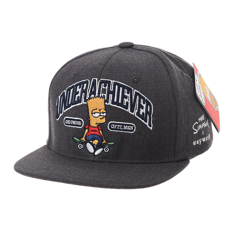 e4d1bde072f05 Get Quotations · WITHMOONS Simpsons Ball Cap Bart Skateboard Snapback HL2755