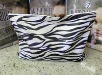 Large Zip Top Zebra Print Make-Up Bag case;cosmetic bag