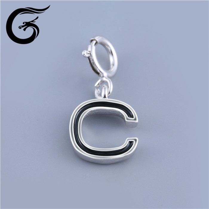 letter charms wholesale elephant charms 925 sterling silver jewelry
