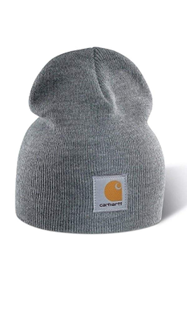 bf729f807ba973 Get Quotations · Carhartt Acrylic Knit Beanie Cap - Grey CHA205HGY Mens  Winter Beanie Wool Hat