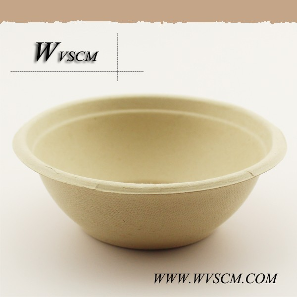 a simple design disposable rice bowl of new material PLA wholesale