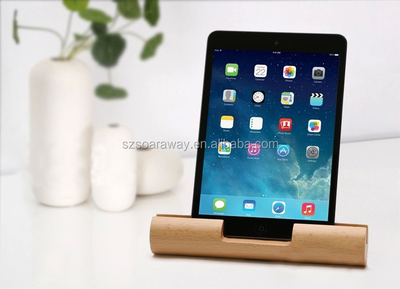 Newly Arrived High Quality wooden for pad stand for table, reusable holder, Solid wood IPAD stand