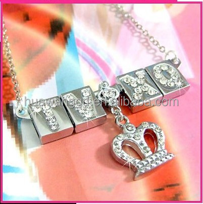 Fashion diy personalized name necklace,cheap name necklace